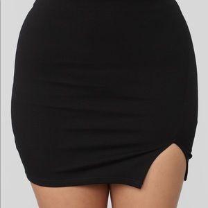 Risqué ponte Mini skirt- Black